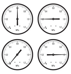 Manometer set vector