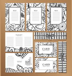 Menu restaurant brochurename card and labal vector