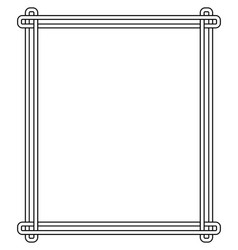 Minimalist geometric frame vector