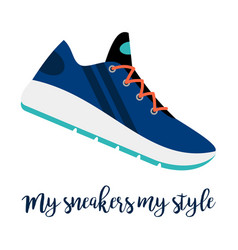 my sneakers my style shoe icon vector image