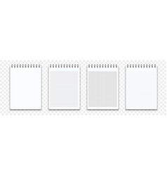 notebook memo notepad templates note pad or diary vector image