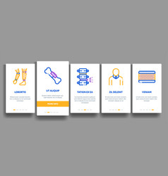 Orthopedic elements onboarding vector