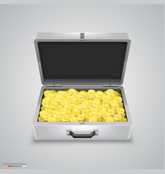 Outdoor metal briefcase coins vector