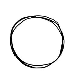 Pencil Hand Drawn Doodle Border vector image