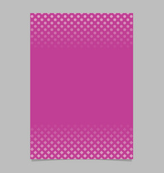 pink halftone geometric circle and square pattern vector image
