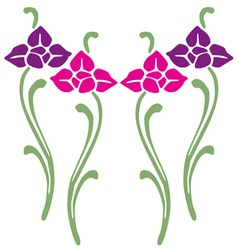 Pink Purple Flowers vector