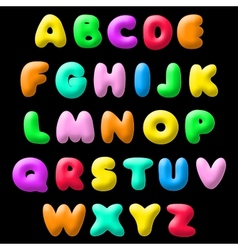 plasticine font vector image
