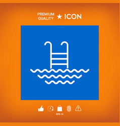 Pool line icon vector