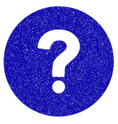 Query icon grunge watermark vector