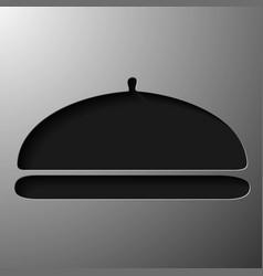 Restaurant cloche vector