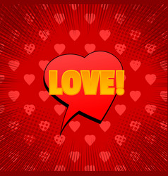 romantic and amorous comic concept vector image