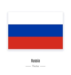 Russia Flag Icon vector image