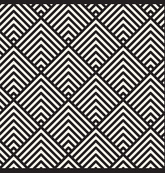 Seamless geometric lines pattern contemporary vector