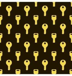 Seamless Gold Key Pattern vector image