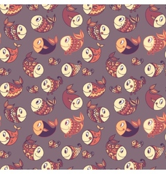Seamless pattern background of colorful happy vector image