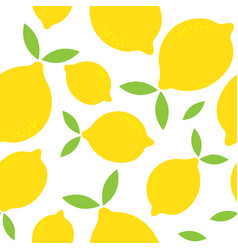 seamless pattern with lemon isolated on white vector image