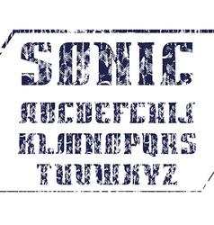 Serif font bold geometric constructed vector