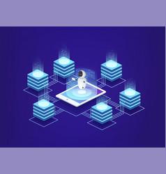 Server station data center digital information vector