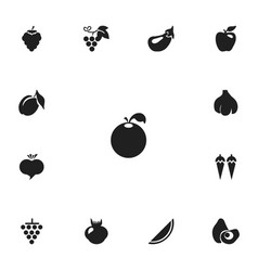 Set of 13 editable dessert icons includes symbols vector