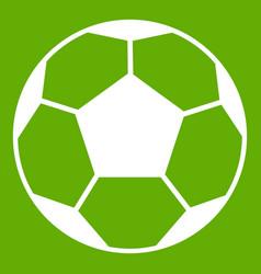 soccer ball icon green vector image