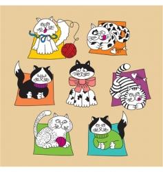 spanish cats vector image