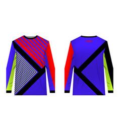 Sportswear sublimation print vector