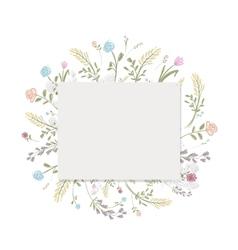 Spring floral frame for your design vector image