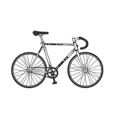track sport bicycle sketch engraving vector image