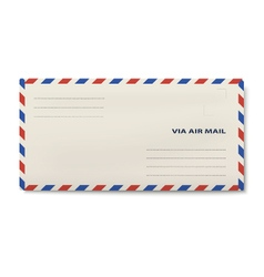 Via air mail DL envelope isolated on white vector image vector image