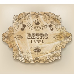 Vintage label with design elements vector image