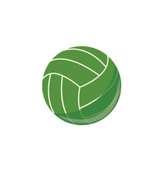 volley ball sport equipment simple icon vector image