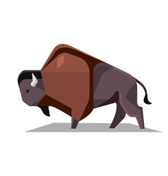 minimalistic image of bison vector image