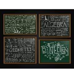 School blackboards set vector image vector image