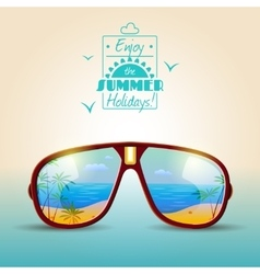 Sunglasses Summer Poster vector image vector image