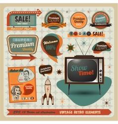 Vintage And Retro Design Elements vector image vector image