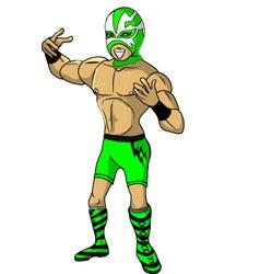 wrestler Shock vector image