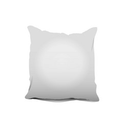 blank white square pillow cushion vector image vector image