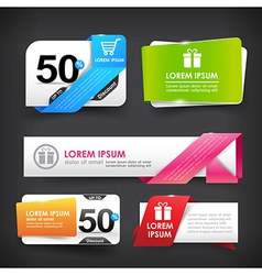 Collection of colorful web tag banner promotion vector image