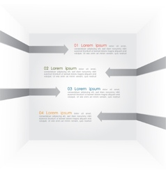 Different way arrows infographics vector image