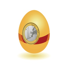 egg with a sticker euro vector image