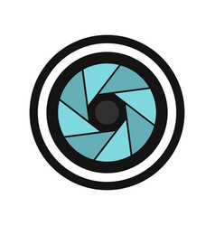 round objective icon flat style vector image