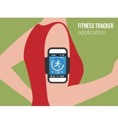Sports or fitness tracking app for running people vector image vector image