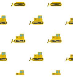 yellow bulldozer pattern flat vector image