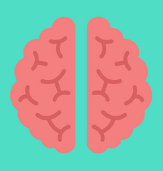 brain flat icon medicine and healthcare organ vector image