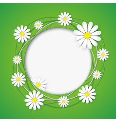 Creative abstract background with chamomile flower vector image