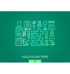 Healthcare integrated thin line symbols Modern vector image vector image