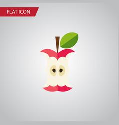 isolated eaten flat icon bitten element vector image