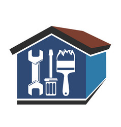 repairs in the house vector image