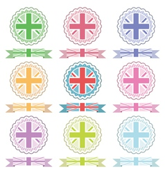 uk ribbons and emblems vector image vector image