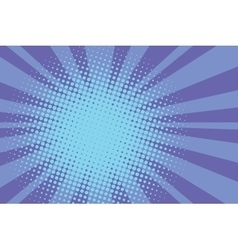Blue rays retro comic pop art background vector